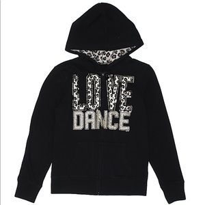 Justice zip hoodie size 7